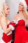 Sexy blonde Lucy Zara has some hot lesbian Christmas fun