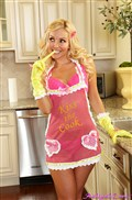 Aaliyah Love takes off her pink apron and touches herself from Aaliyah Love