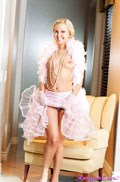 Aaliyah Love looks amazing in her pink feather Boa from Aaliyah Love