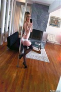 Abigaile Johnson does a pole dance and screws on the bed