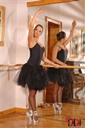 Aleksa Diamond pleasures herself in the ballet studio from DDF Prod