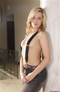 Alexis Texas hot blonde fucks in her suspenders from evilangel