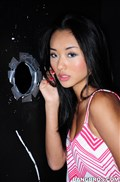 Alina Li sucks on some big cock at a glory hole Picture 02