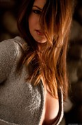 Amber Sym looks super sweet removing jeans and sweater