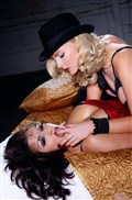 Ancilla Tilia and Aria Giovanni fool around in bed