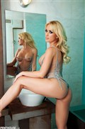Angela Sommers gets wet in the spa and shows hot body from Penthouse