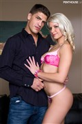 Anikka Albrite gets banged from behind in her pink lingerie from Penthouse