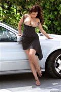 Aria Giovanni poses nude on a Mercedes Benz Picture 05