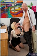 Ash Hollywood gets nailed on her office desk during work from Naughty America