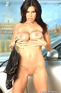 Ashley Renee strips down next to a Lexus SC430