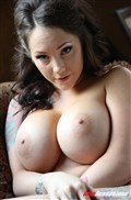 Ashton Pierce shows off big tits and gets nailed on a couch