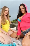 Aurielee Summers watches Luna Star take dick on a couch
