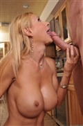 Busty blonde Brooke Tyler hot housewife nails her yard boy
