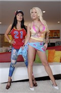 Candy Manson and Sienna West flash their tits and twats Picture 01