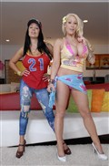 Candy Manson and Sienna West flash their tits and twats Picture 03