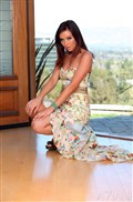 Blue eyed Capri Anderson plays with a dildo in blue panties from Aziani