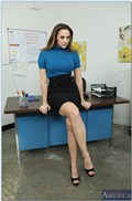 Chanel Preston gets drilled on her desk in the office from Naughty America