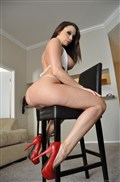 Chanel Preston gets screwed on the floor in a white bikini from evilangel