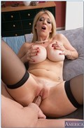 Charlee Chase screws her boy toy in black stockings from Naughty America