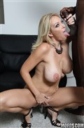 Charlee Chase takes on some rock hard black cock from Mofos Network