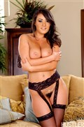 Charley Chase takes it deep while in her hot black stockings