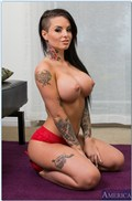 Christy Mack gets nailed in red lingerie by a sexy visitor from Naughty America