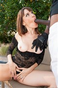 Dana DeArmond takes a black cock in her ass outdoors from evilangel