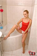 Denisa Heaven pleasures herself with a dildo in the shower