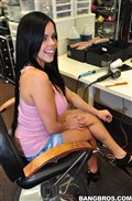 Diamond Kitty gives a quickie hand job in the studio from BangBros