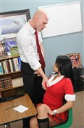 Diamond Kitty hot schoolgirl fucks in class Picture 13
