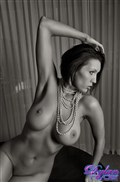 Dylan Ryder shows off her perfect figure in black and white from Dylan Ryder
