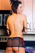 Dylan Ryder removes red and black lingerie in the kitchen from Dylan Ryder
