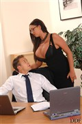 Emma Butt hot office slut gets fucked hard from DDF Prod