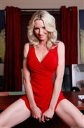 Emma Starr gets nailed at an art gallery in a sexy red dress Picture 02
