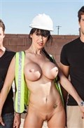 Eva Karera busty construction worker fucks two dicks Picture 10