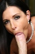 India Summer milks a nice thick cock in purple lingerie
