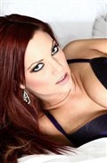 Jayden Cole strips off purple lingerie in bed in stockings from Brand Danger