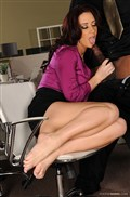 Jayden Jaymes rubs her sexy feet on a black cock from 21 Sextury