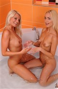 Jessie Jazz and Victoria Puppy finger pussy in the bathtub from 21 Sextury