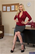 Hot MILF Julia Ann fucks in her sexy red top at the office from Naughty America