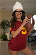 Jynx Maze plays with a football and gets ass hammered