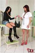 Klaudia Hot gets banged by her busty doctor Vanessa from DDF Prod