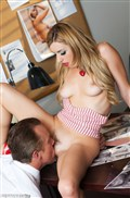 Lexi Belle gets screwed in her red heels by a guy in a suit from Penthouse