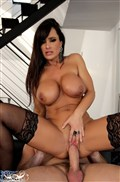 Lisa Ann shows big tits and gets drilled in black stockings from Brand Danger