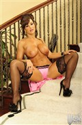Lisa Ann gets drilled on the stairs in pink lingerie from Wicked