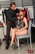Lucy Belle gets her makeup done and sucks a hard cock from DDF Prod