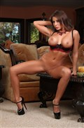 Madison Ivy shows off her sexy body in lingerie and heels from Aziani