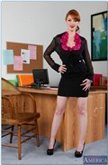 Marie McCray gets it on with her coworker in the office from Naughty America