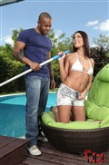 Melanie Memphis gives a nice blow job outside by the pool from DDF Prod