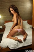 Melanie Rios rides dick on the bed in a hotel room from Hustler